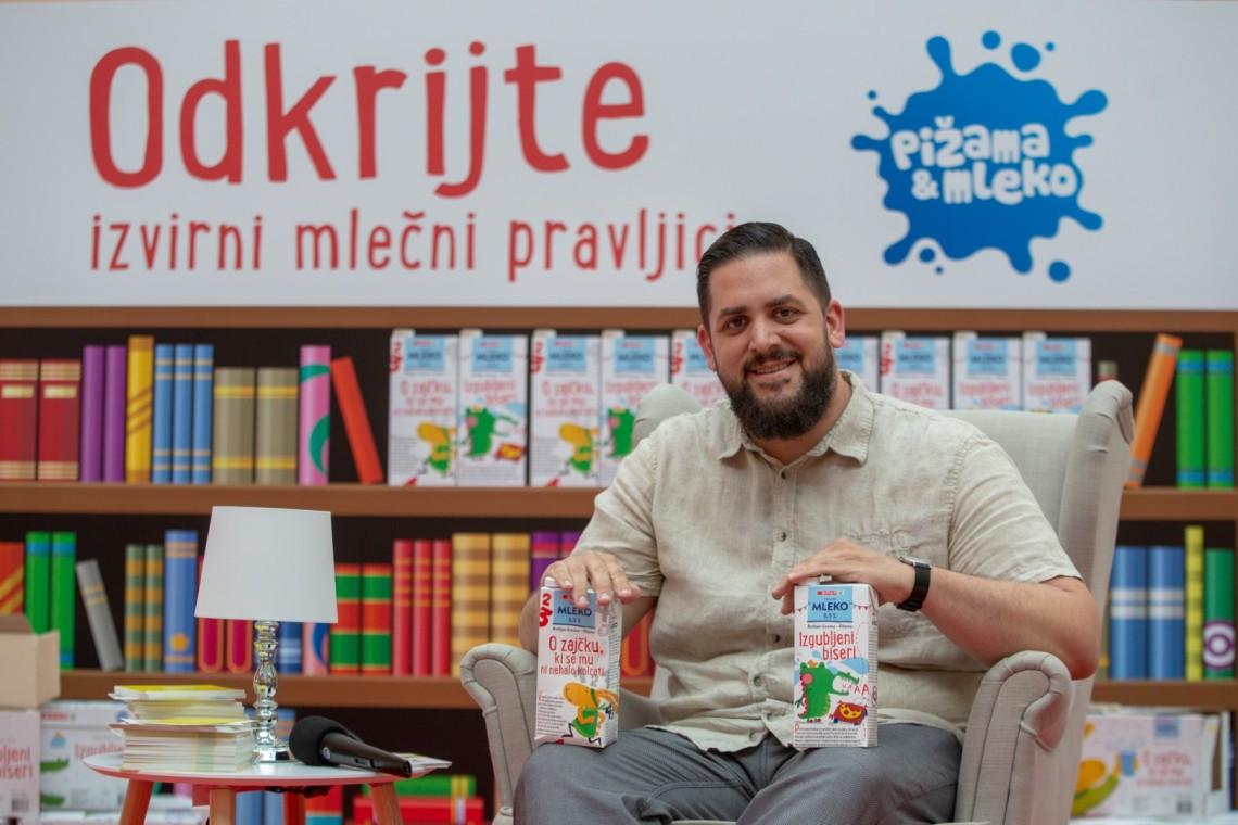 """Na embalaži trajnega mleka Spar Slovenija """"mlečne"""" pravljice pisatelja Boštjana Gorenca – Pižame/Foto: press/Spar Slovenija"""